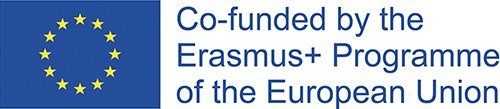 "This is the logo of the EU Erasmus+ programme. On the logo you can see the EU flag and the sentence ""Co-funded by the Erasmus+ Programme of the European Union""."